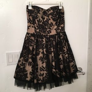 Agaci Strapless Lace Tulle Dress- M